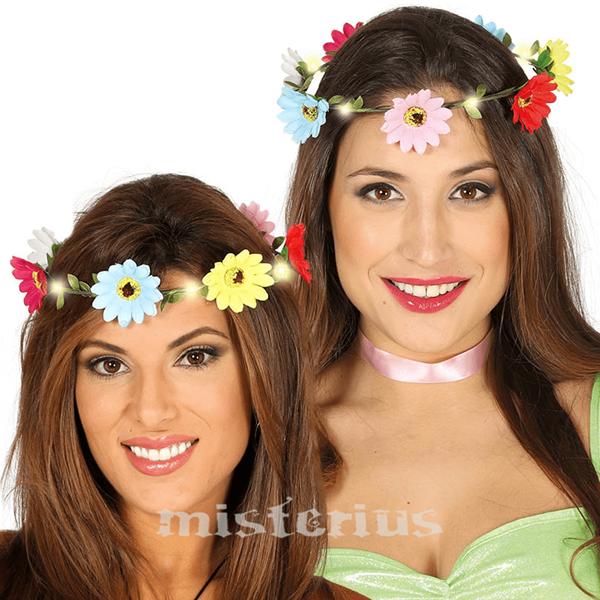 Coroa Flores Multicor Luminosa
