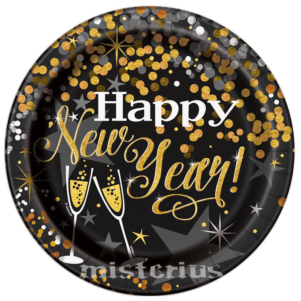 Pratos Happy New Year 8 un