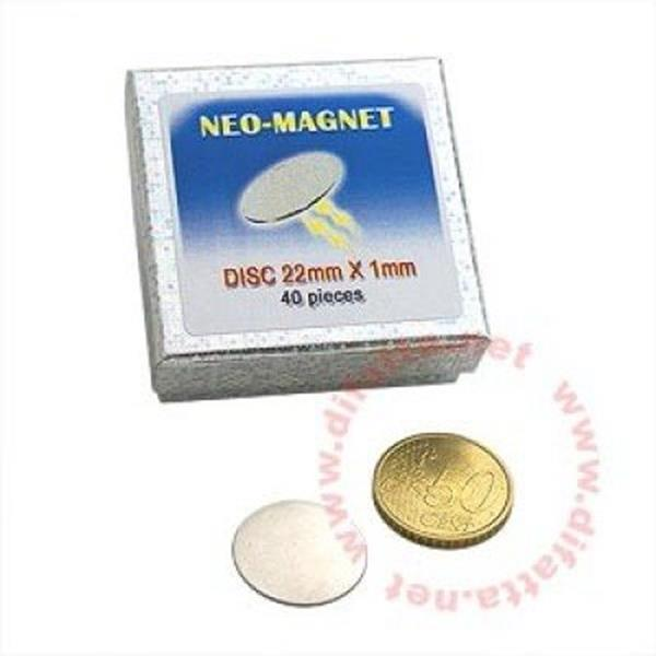 Iman neodimio 22x1mm, disco Neodymium Magnet