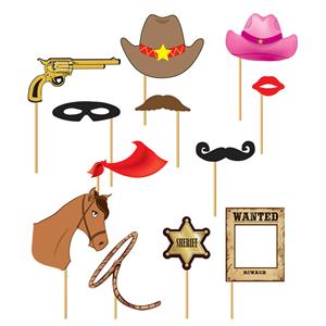 Adereços Photobooth Cowboy 12 Unid.