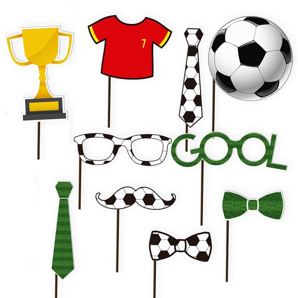 Adereços Photobooth Futebol, 10 Unid.