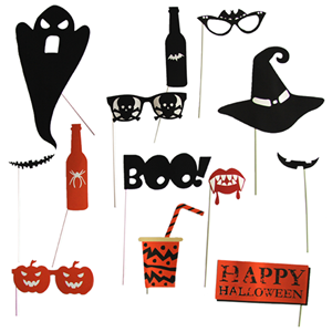 Adereços Photobooth Halloween, 12unid