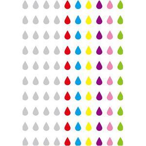 Brilhantes Adesivos Gotas Multicolor, 100 unid.