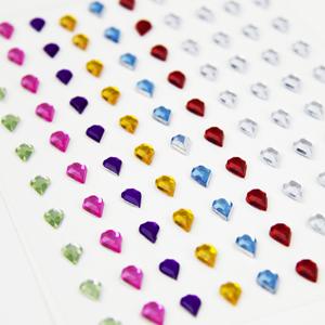 Adesivo Gota Brilhante Multicolor, 100 Unid.