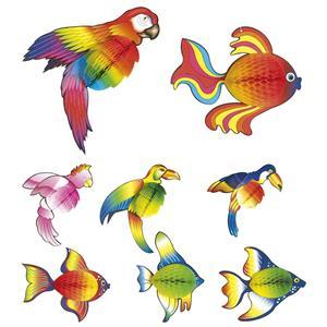Animais Tropicais Decorativos, 2 unid.