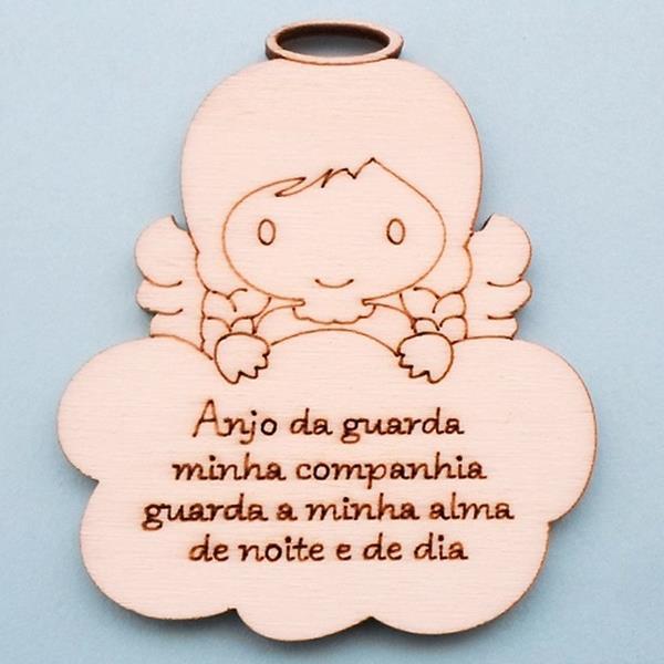 Anjinho da Guarda com Oração, 8 cm