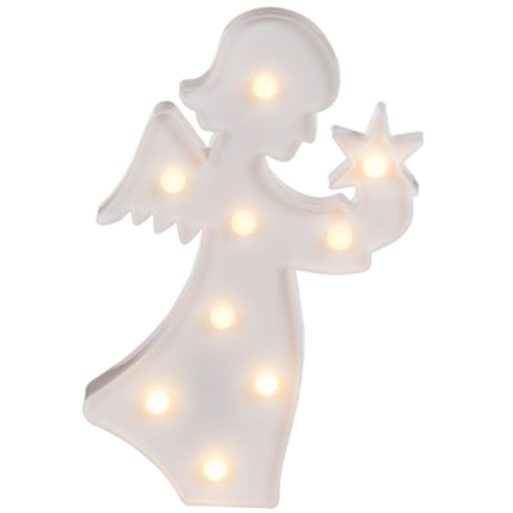 Anjo Branco Decorativo com Luz
