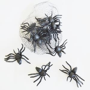Aranhas Decorativas Halloween, 12 unid.