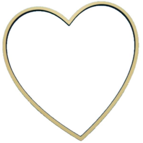 Aro Coração em Madeira, 31 cm