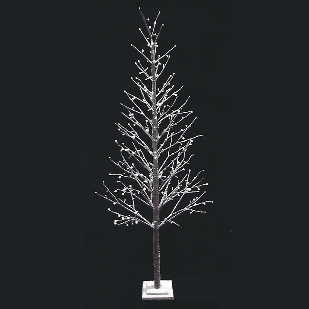 Árvore Luminosa Efeito Neve Leds Branco Quente, 210 Cm