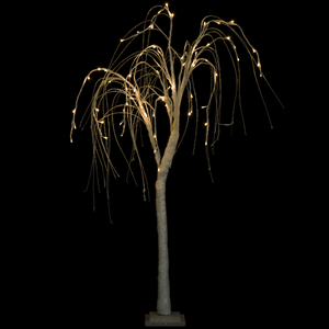 Árvore Luminosa Leds Branco Quente, 120 Cm