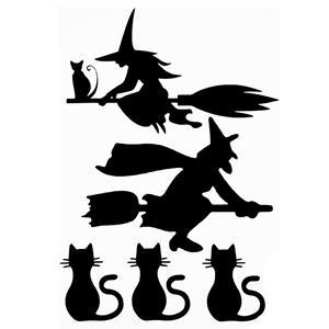 Autocolantes Bruxas e Gatinhos