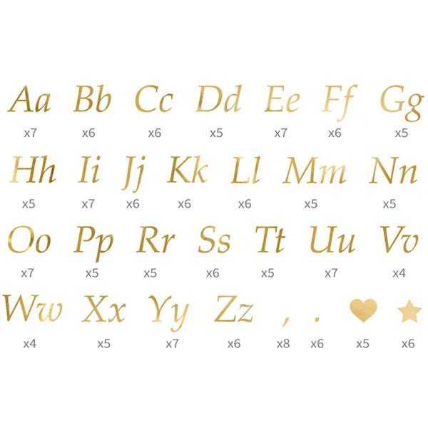 Autocolantes Letras Douradas para Balões
