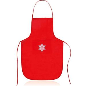 Avental Vermelho com Floco de Neve