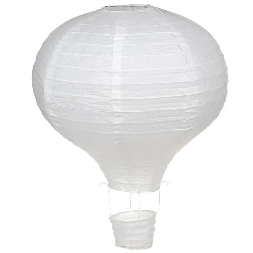 Balão Ar Quente Branco, 40 cm