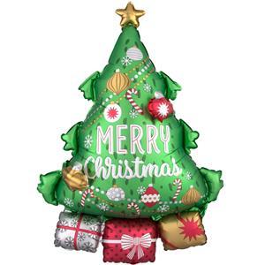 Balão Árvore de Natal com Presentes Foil, 86 cm
