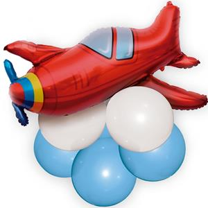 Balão Avião Foil e Balões Látex