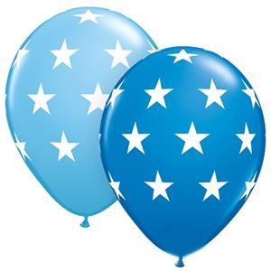 Balão Azul com Estrelas