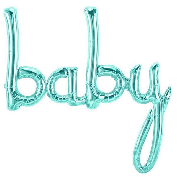 Balão Baby Azul Pastel Foil, 107 cm