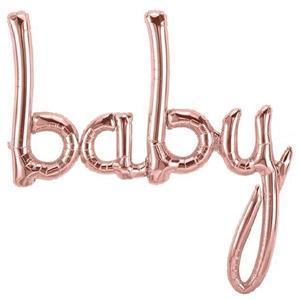Balão Baby Rosa Gold Foil, 107 cm