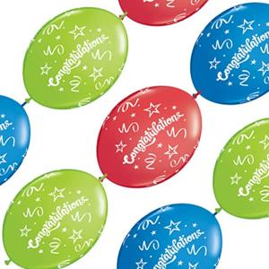 Balão Banner Congratulations, 10 unid