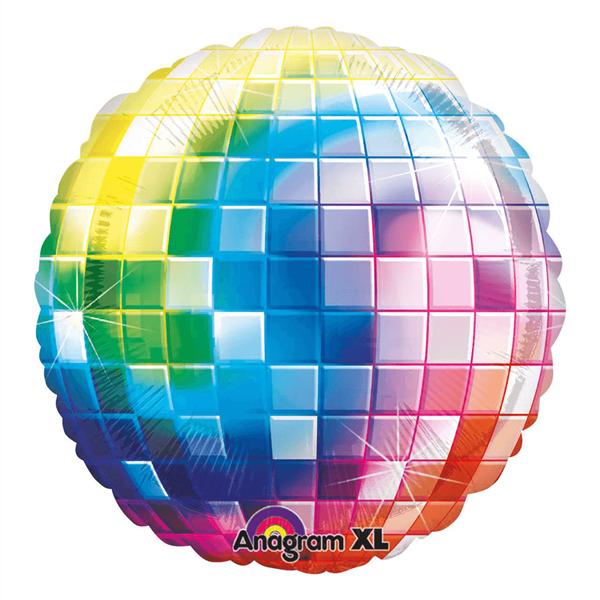 Balão Bola de Espelhos Disco Multicor, 81Cm