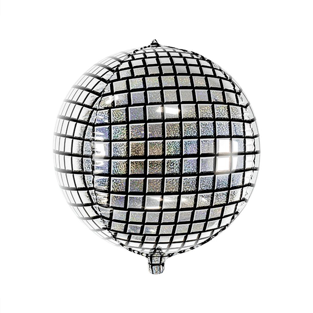 Balão Bola de Espelhos Prateado, 40 Cm