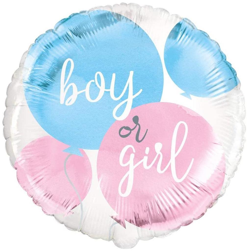 Balão Boy or Girl Foil, 45 cm