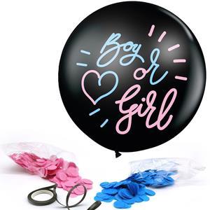 Balão Boy or Girl Látex com Confetis, 90 cm