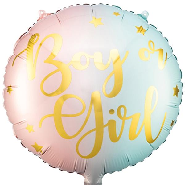 Balão Boy or Girl Pastel Foil, 35 cm