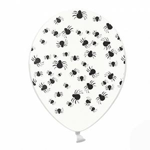 Balão Transparente Aranhas, 6 unid.
