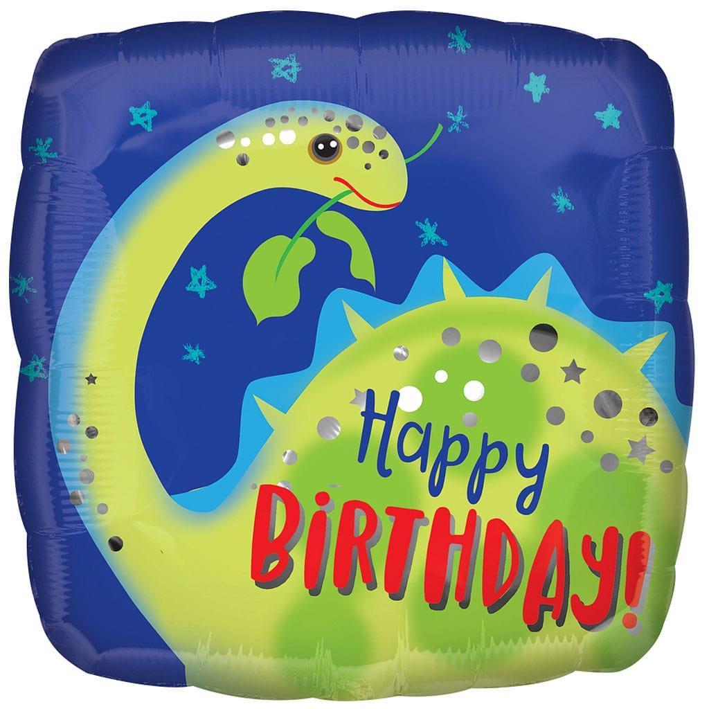 Balão Brontosaurus Happy Birthday Foil, 43 cm