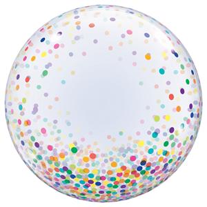 Balão Bubble Confetis, 61 Cm