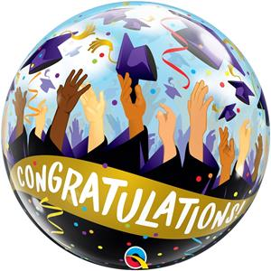 Balão Bubble Congratulations, 56 cm