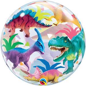 Balão Bubble Dinossauros, 56 cm