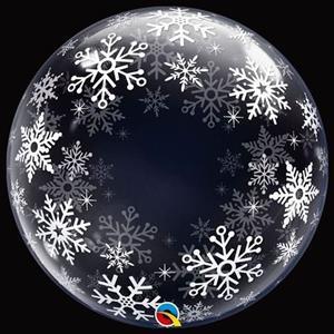 Balão Bubble Floco Neve, 61 cm