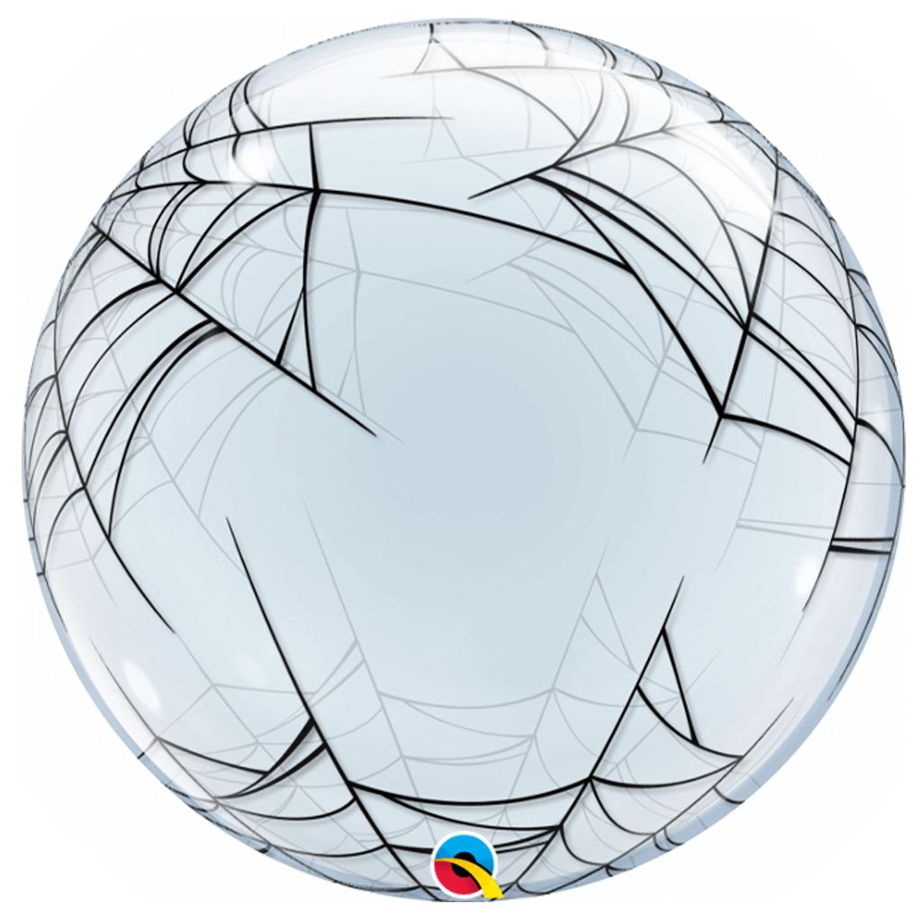 Balão Bubble Transparente com Teia de Aranha, 61 cm
