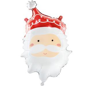 Balão Cabeça Pai Natal Foil, 60 cm