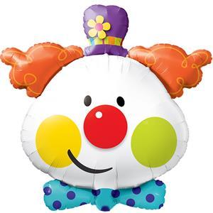 Balão Cabeça Palhaço Foil, 91 cm