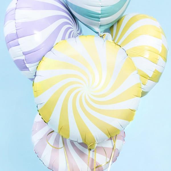 Balão Candy Amarelo Foil, 45 cm