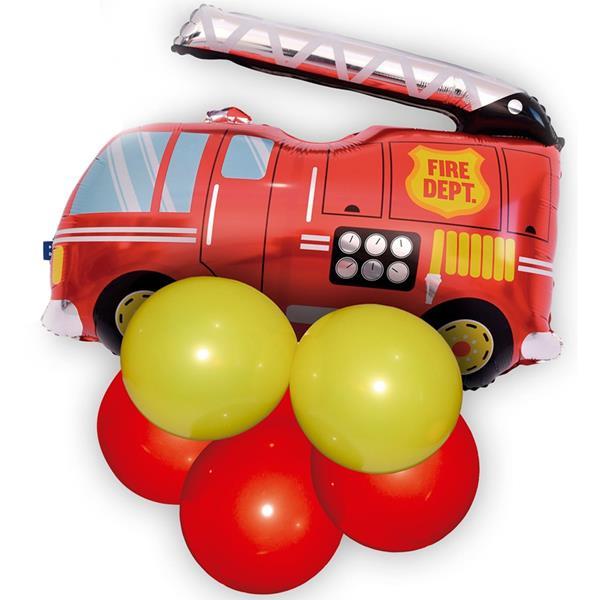 Balão Carro Bombeiros Foil e Balões Látex