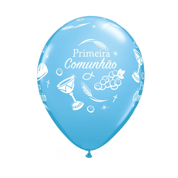 Balão Comunhão Azul Un
