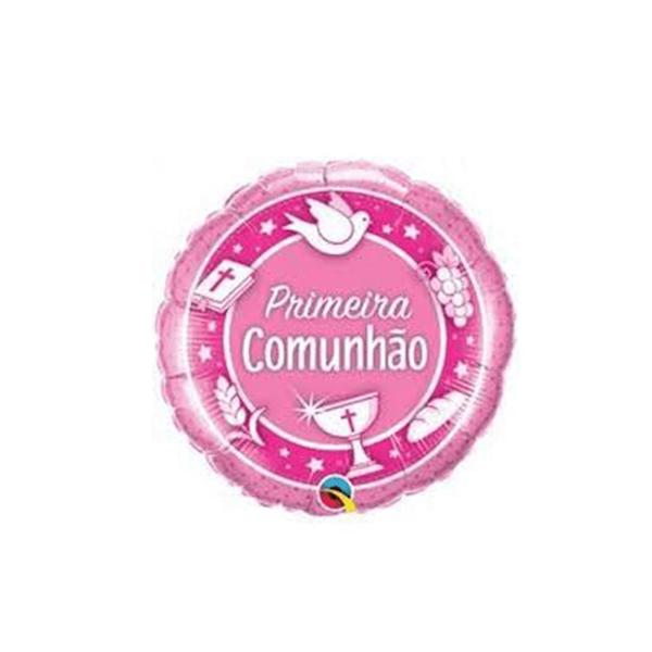 Balão Comunhão Rosa, 46cm