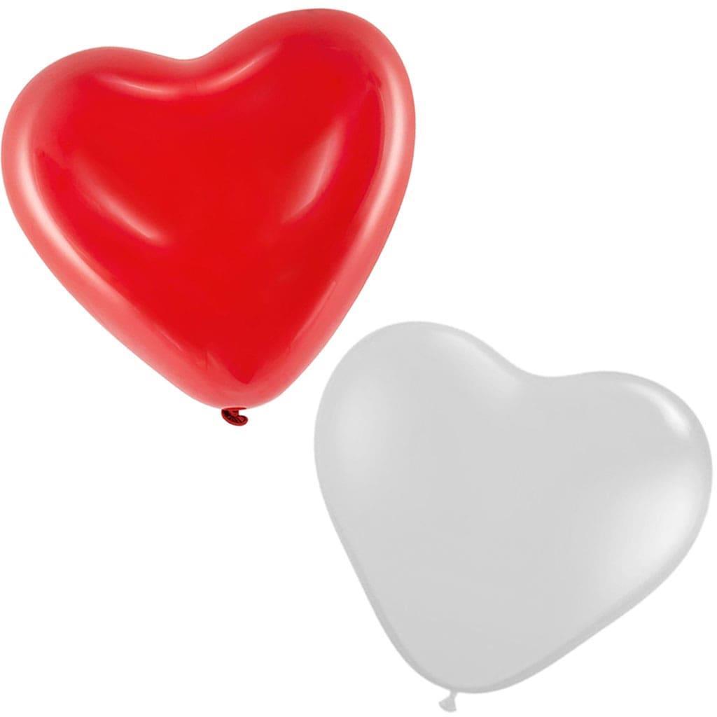 Balão Coração Látex, unid.