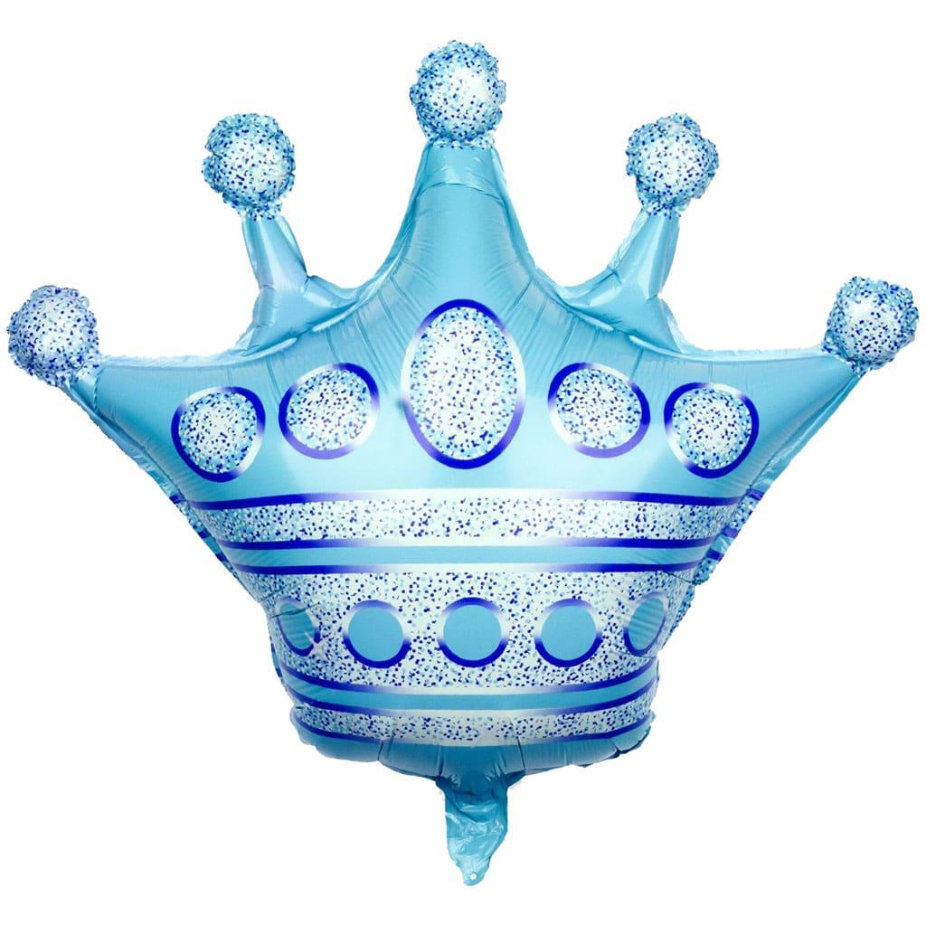 Balão Coroa Azul Foil, 60 cm
