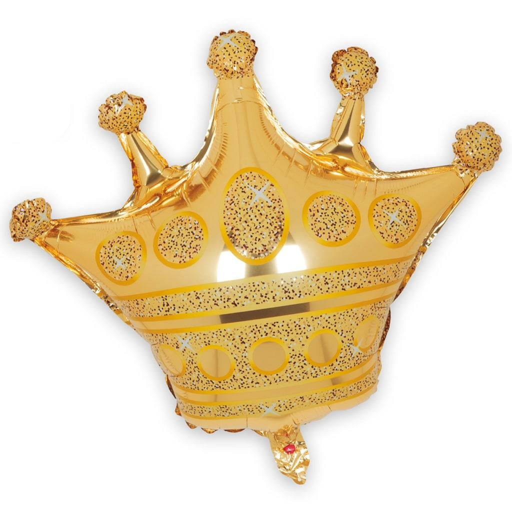 Balão Coroa Dourada, 100 Cm