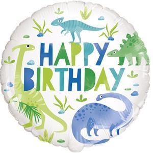 Balão Dino Roar Happy Birthday Foil, 45 cm