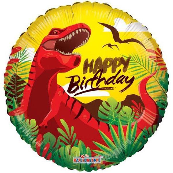 Balão Dinossauro Happy Birthday Foil, 45 cm