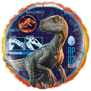 Balão Dinossauro Velociraptor Jurassic World Foil, 46 cm