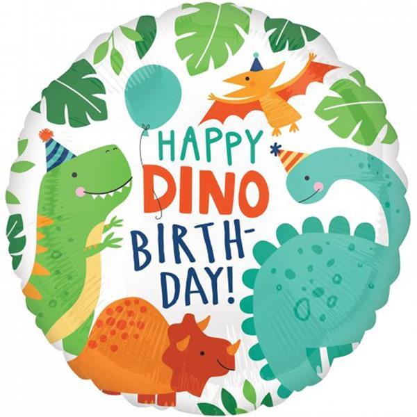 Balão Dinossauros Party Foil, 43 cm